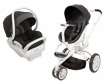 Quinny Moodd Travel System Black Irony With Stroller & Mico Max 30 Car Seat