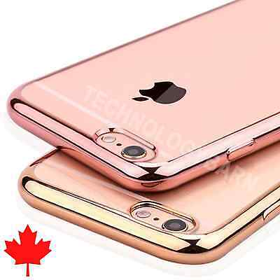 iPhone 6 & iPhone 6s Premium Luxury Electroplated SOFT Clear TPU Case