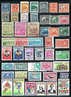 NICARAGUA Stamps Assorted Lot of 47
