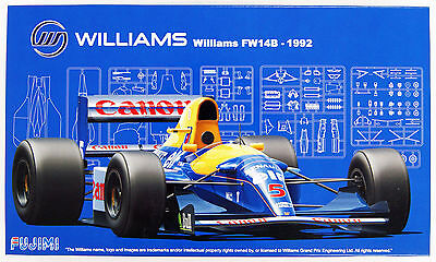 Fujimi GP05 F1 Williams FW14B - 1992 England/ Monaco/ Hungary GP 1/20 Scale Kit
