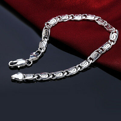 925 sterling Silver Plated Fashion wedding Woman men noble Bracelet jewelry