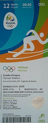 mint TICKET 12.8.2016 Olympia Rio Leichtathletik Athletics # O01
