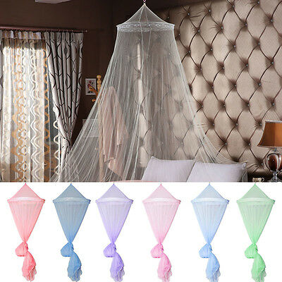 Elegant Lace Canopy Bed Curtain Dome Fly Midges Insect Cot Stopping Mosquito Net
