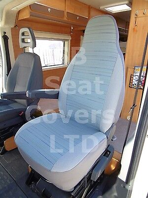 To Fit A Ford Transit Motorhome, 2013, Seat Covers, Reggie Blue, 2 Fronts