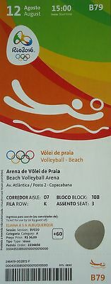 TICKET 12.8.2016 Olympia Rio Beachvolleyball # B79