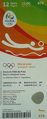 TICKET 12.8.2016 Olympia Rio Beachvolleyball # B78