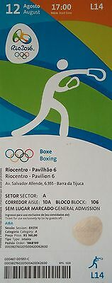 mint TICKET 12.8.2016 Olympia Rio Boxen Boxing # L14
