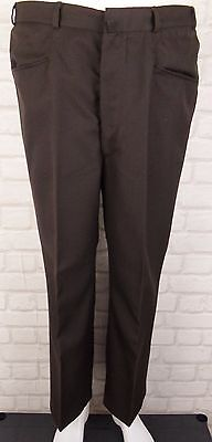 VINTAGE 1970s BOOTCUT FLARE FROG MOUTH POCKET WOO BLEND TROUSERS W27 L28 AD72
