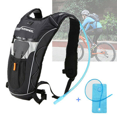 Cycling Bicycle Riding Hiking Bag+ Water Bladder Hydration Camelback Backpack 2L