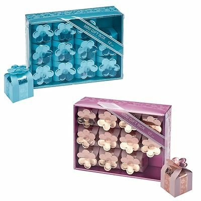 12 to 60 Mini Square Box With Flower Luxury Wedding & Party Favours Gift Boxes