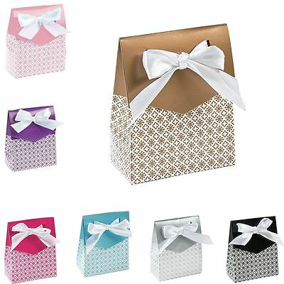 12 to 60 Tent Luxury Wedding & Party Favours Gift Boxes With Ribbon