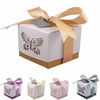 5 to 60 Laser Cut Butterfly Luxury Wedding & Party Favours Gift Boxes