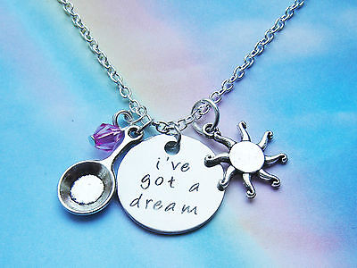 I've Got A Dream Charms Sun Crystal Necklace Tangled Inspired Princess Rapunzel