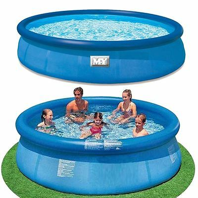 M.Y 10ft X 30 inches Inflatable Garden Quick Set Ring Pool Paddling Swimming