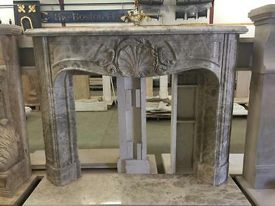 Beautiful Hand Carved  Marble Estate  Fireplace Mantel - Jd660