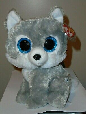 """NEW Ty Beanie Boos ~ JADE the Wolf 8-9/"""" Medium Buddy Great Wolf Lodge Excl"""