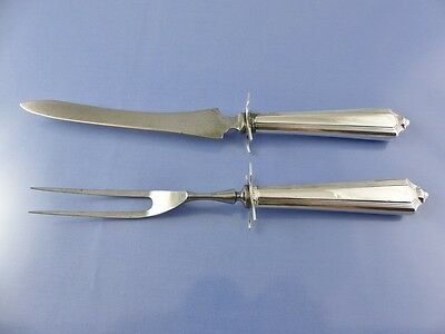 PLYMOUTH 1911 SMALL GAME CARVING SET 2 pc HOLLOW HANDLE 2 PC. BY GORHAM CORP