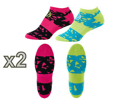 Zumba Dress to Compress Socks 2pk x2 (Four Pairs Total) A0A00567