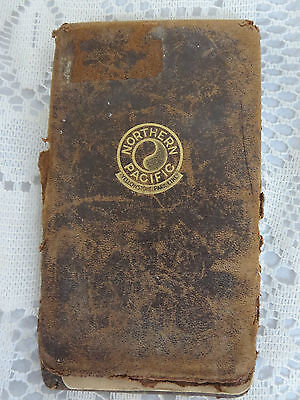 Leather Northern Pacific Yellowstone Park Line Pocket Month Calendar Notepad1949