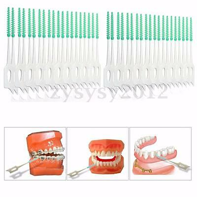 40X Brosse Cure Dents Brossette Interdentaires Dentaire Nettoyage Toothpick Oral