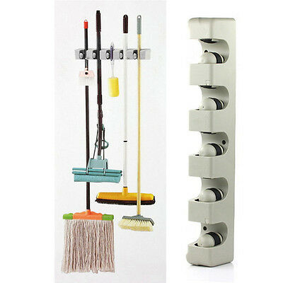 Useful Wall Mounted Garden Tool Rack Storage and Organization Hanger 5-Position