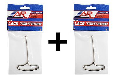 A&R Ice Hockey & Figure Skate Wire Lace Tightener Puller Tool w/ Hook (2-Pack)