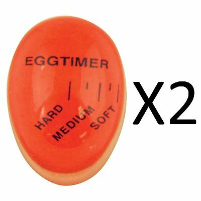 Fox Run Color-Changing Heat-Absorbing Egg Rite Perfect Doneness Timer (2-Pack)
