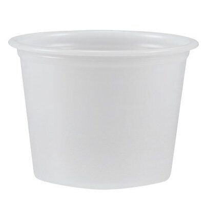 Solo Cup Company P100N Polystyrene Portion Cups, 1 Oz, Translucent, 2500/carton