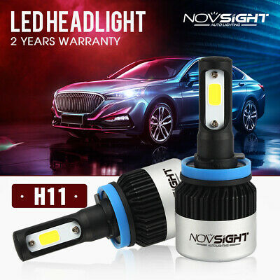 Nighteye 72W 9000LM H11 H9 H8 LED Headlight Car Conversion Bulb Beam 6500K KIT