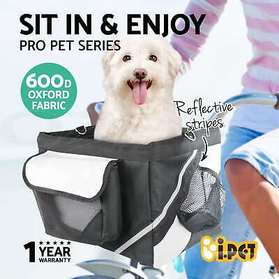 Black Pet Dog Puppy Cat Travel Carry Bag Carrier For Bike Bicycle Front Basket