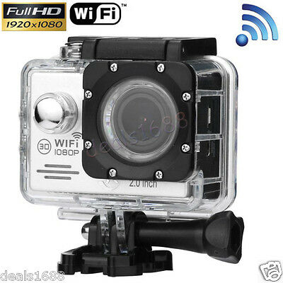 12MP Sports Camera Wireless Waterproof 1080P HD DV Video WIFI Action Camcorder