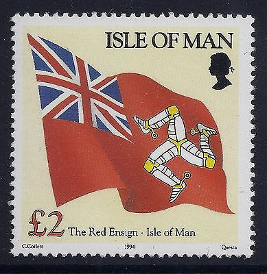 1994 Isle Of Man £2 Red Ensign Definitive Fine Mint Mnh/muh
