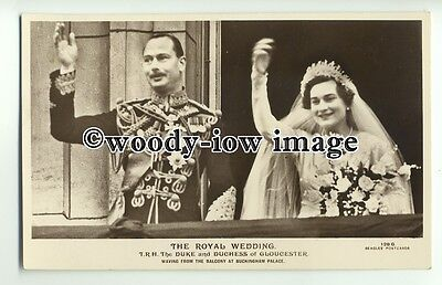 r0740 - Duke & Duchess of Gloucester on their Wedding Day - postcard