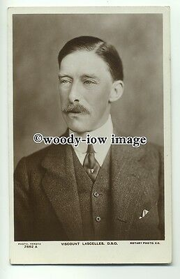 r0738 - Viscount Lascelles husband of Princess Mary - postcard