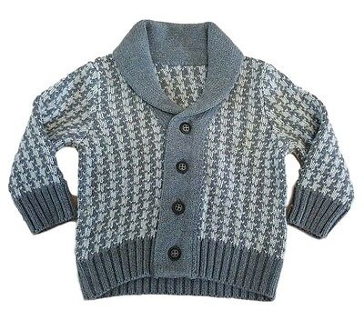 Boys Baby Cardigan Knitted Jumper Sweater Jacket Smart Casual Ex M+S Autograph