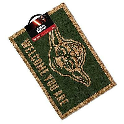 Star Wars - Welcome You Are Yoda Coconut Fibre Door Mat - New & Official