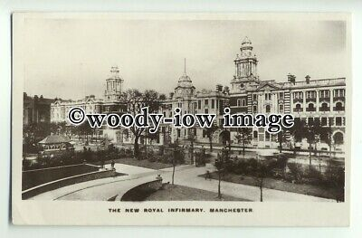 tp8896 - Lancs - The New Royal Infirmary & Garden, in Manchester - Postcard
