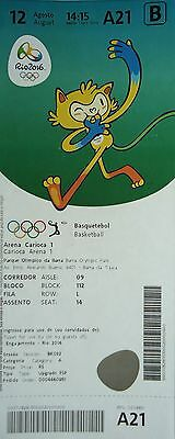 TICKET M 12.8.2016 Olympia Rio Basketball Men's China - Australien # A21