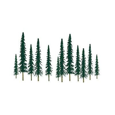 "Z Scale Scenic Conifer Trees (1"" to 2"") - 55/pk - JTT Scenery #92009"