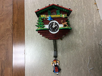 #19W Novelty 1 Day Windup Mini Cuckoo With Bouncing Girl
