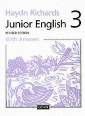 Junior English Book 3 with Answers by Richards, W.Haydn Paperback Book The Cheap