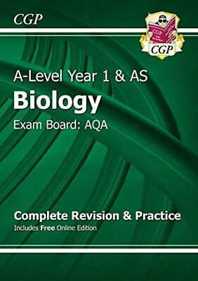 A-Level Biology: AQA Year 1 & AS Complete Revision & Practice wi... by CGP Books
