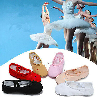 Professional Canvas Split Sole Ballet Dance Shoes Pointe Slippers Baby Women Gym