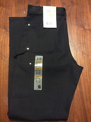 Carhartt Firm Duck Double Front Work Dungaree 30 X 32 Loose Original Fit Black