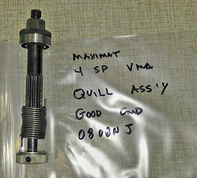 "Emco Maximat ""BLUE"" Vertical Milling Quill Attachment Axle Assembly 0808NJ"