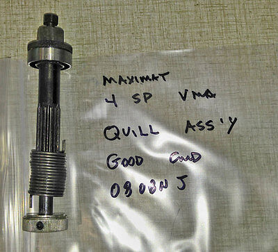 Emco Maximat Vertical Milling Quill Axle Assembly 0808NJ