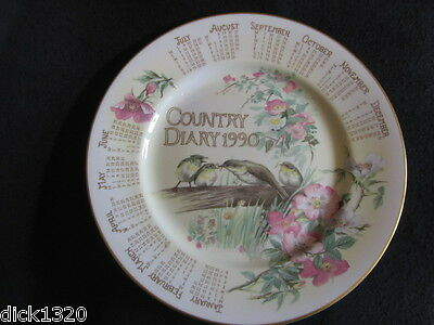 "CAVERSWALL DECORATIVE CHINA 10.5"" PLATE 'Diary of an Edwardian Lady' Calendar 90"