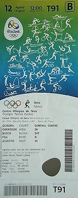 TICKET A 12.8.2016 Olympia Rio Tennis # T91