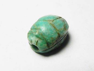 Zurqieh - Ao3- Ancient Egypt. Beautiful And Rare Feldspar Scarab. 1400 B.c