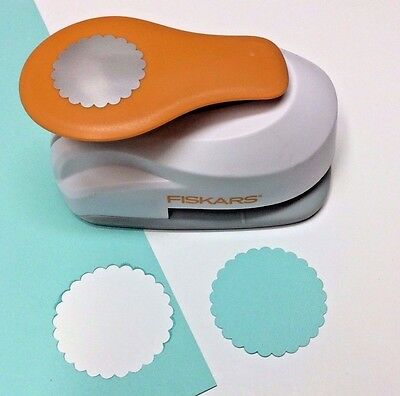"""Fiskars 2"""" SCALLOPED CIRCLE - XL Lever Punch Oversized Scrapbooking Punch NEW"""